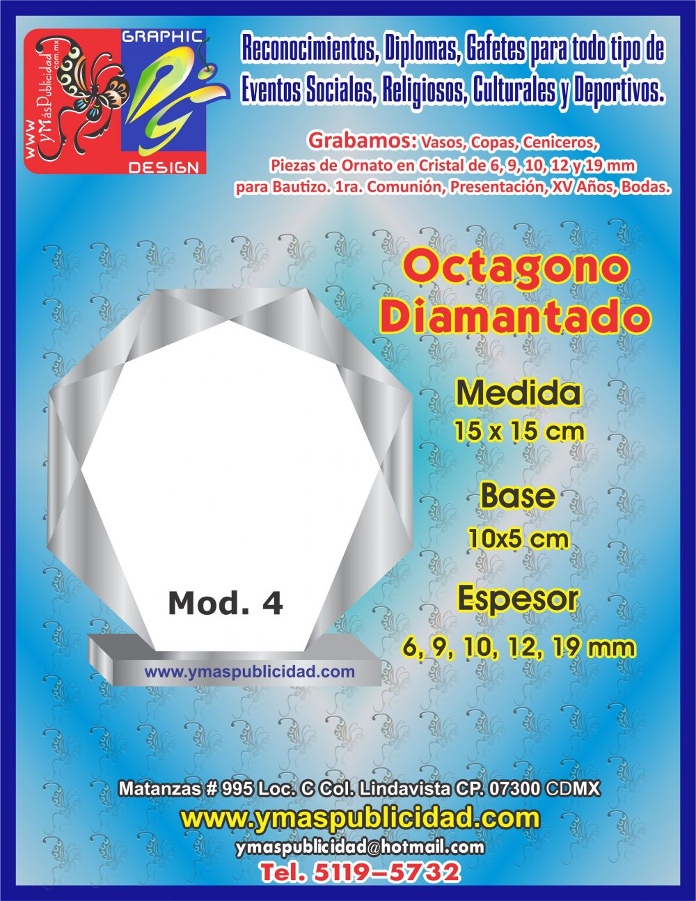 OCTAGONO DIAMANTADO