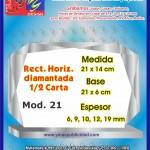REC. HORIZ. DIAMANTADA 1/2 CARTA