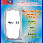 RECT. VERTICAL DIAMANTADA 1/2 CARTA