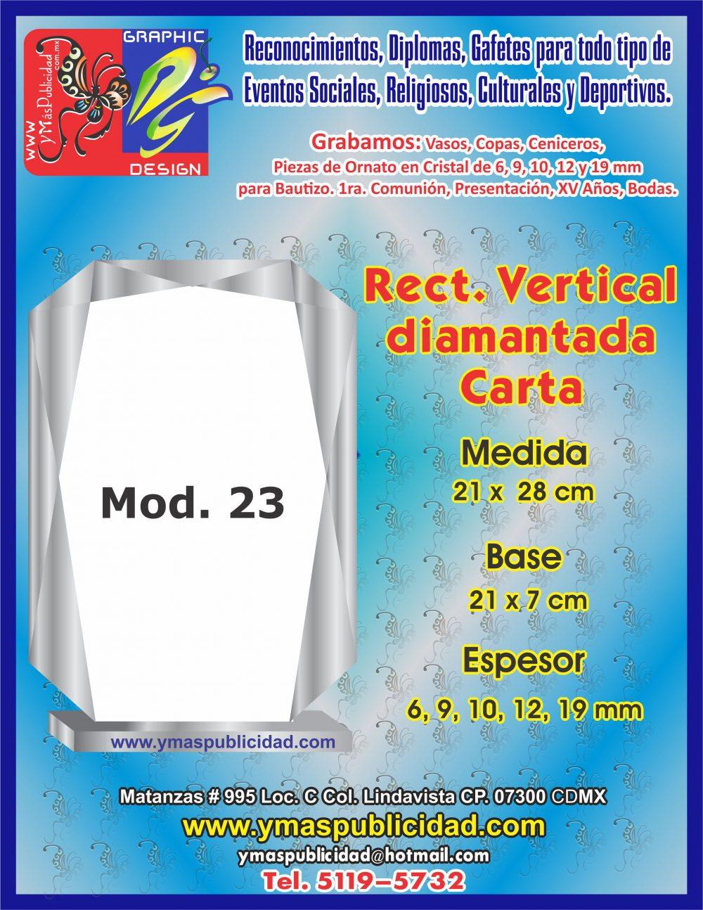 RECT. VERTICAL DIAMANTADA CARTA