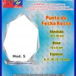 PUNTA DE FLECHA RECTA